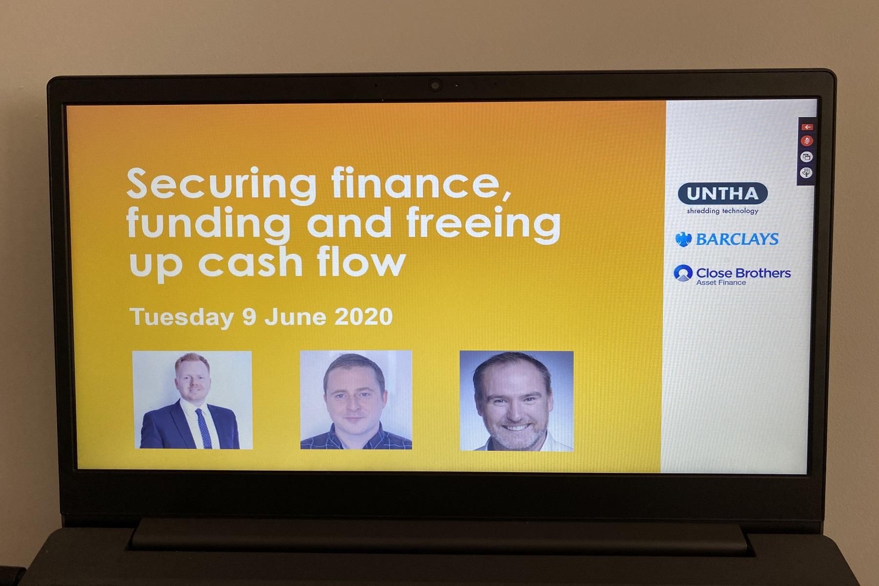 UNTHA UK Finance webinar