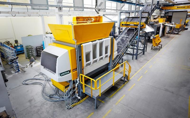 UNTHA UK industrial shredder bulky waste RDF